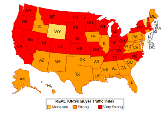 REALTORS® Reported Strong Buyer Traffic in Many States in April 2017
